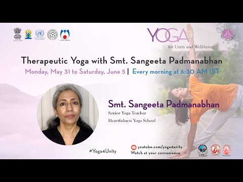 126-Yoga For Weight Loss Class2 By Smt. Sangeeta Padmanabhan Yoga For Unity&Well-being  Heartfulness