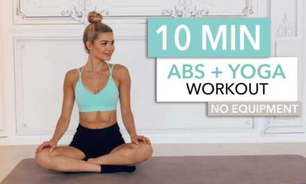 """10 MIN ABS + YOGA  – A Slow And """"relaxed"""" Workout For Super Strong Abs / No Equipment I Pamela Reif"""