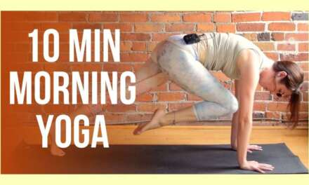 10 Min SUNRISE Yoga For Energy – Morning Yoga Stretch NO PROPS
