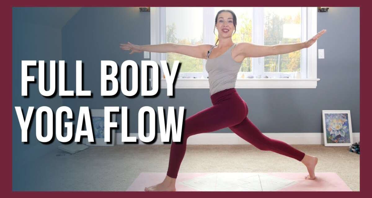 30 Min Intermediate Full Body Yoga – Vinyasa Yoga NO PROPS