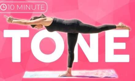 10 Min Full Body Power Yoga Workout   Tone Yoga Flow    Sarah Beth Yoga