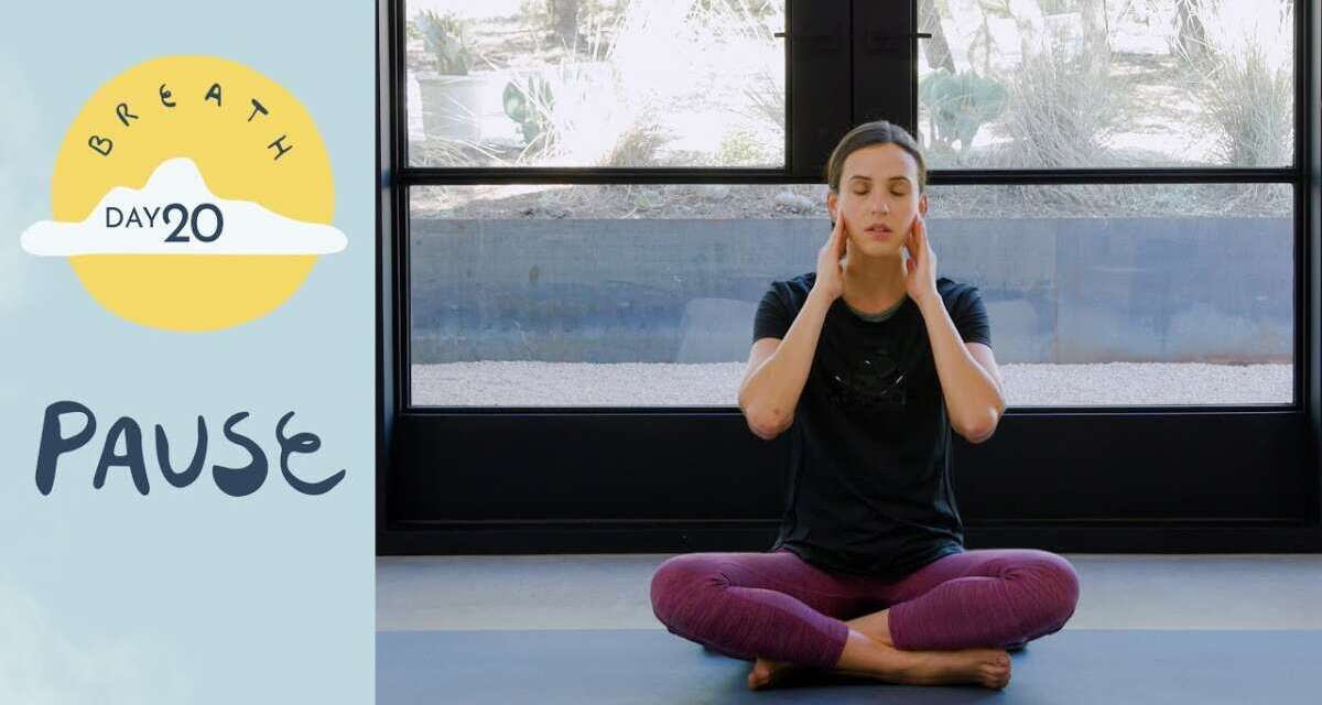 Day 20 – Pause    BREATH – A 30 Day Yoga Journey