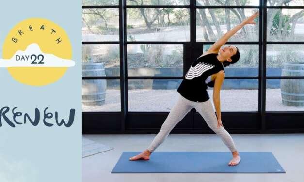 Day 22 – Renew    BREATH – A 30 Day Yoga Journey