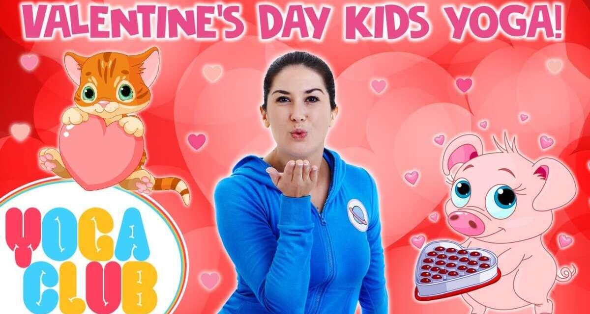 Valentine's Day Yoga For Kids! 💘  Yoga Club (Week 27)   Cosmic Kids