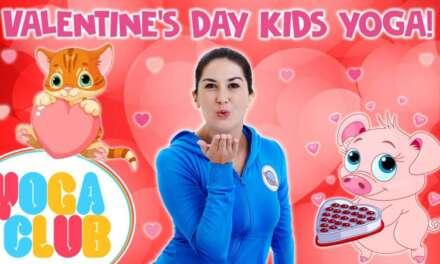 Valentine's Day Yoga For Kids! 💘  Yoga Club (Week 27) | Cosmic Kids