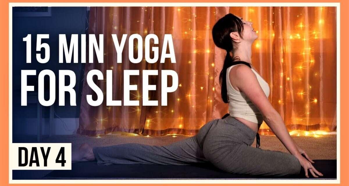15 Min Yoga For Sleep – Day #4 (EVENING YOGA FLOW)