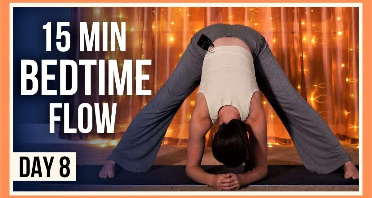 15 Min Yoga For Flexibility – Day #8 (EVENING YOGA FULL BODY)