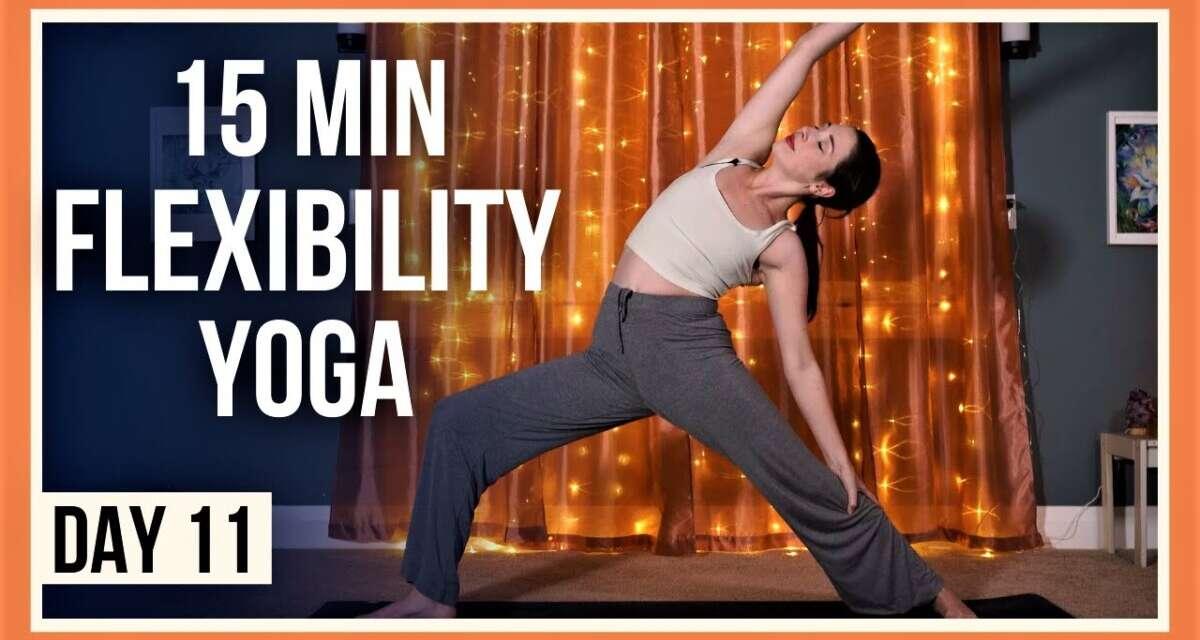 15 Min Evening Yoga Stretches – Day #11 (FULL BODY FLEXIBILITY YOGA)