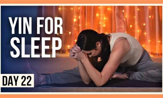 15 Min Yin Yoga For Sleep – Day #22 (YOGA FOR FLEXIBILITY & RELAXATION)