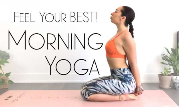 5 Minute Morning Yoga Full Body Stretch To Feel AMAZING