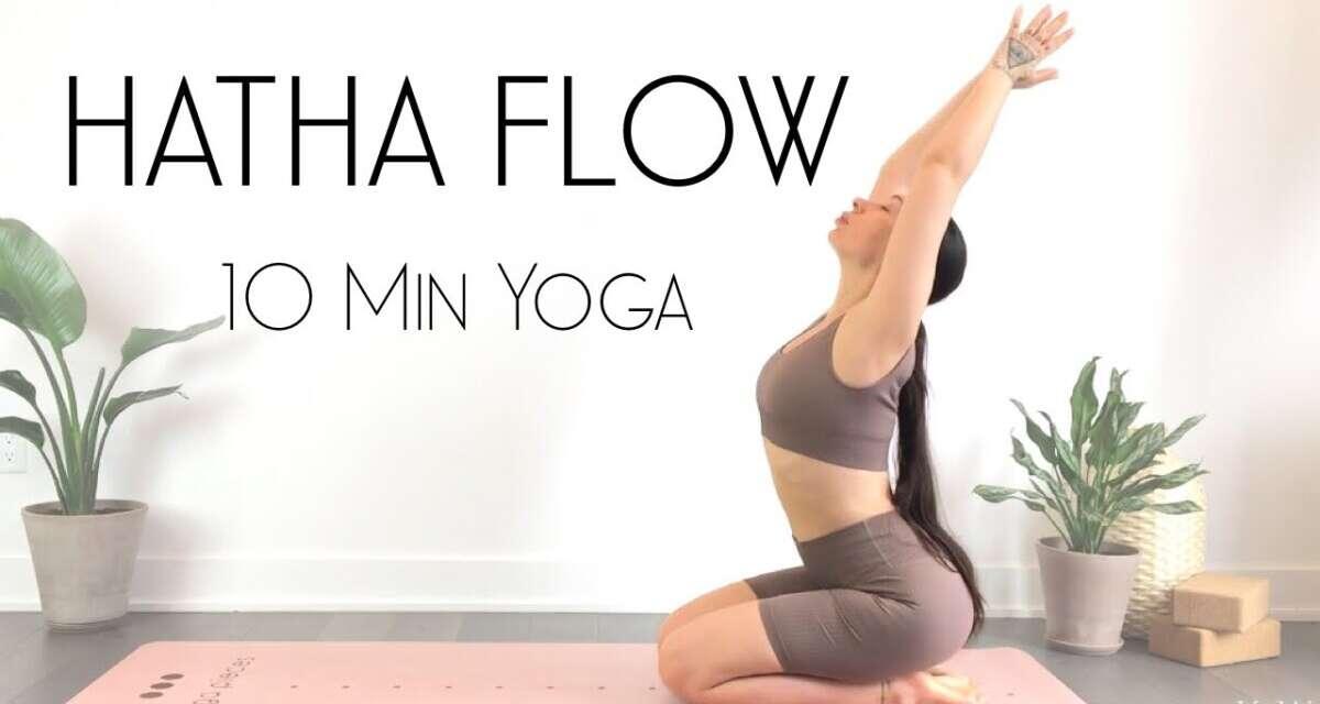 10 Minute Hatha Yoga Flow To FEEL INCREDIBLE! – Intermediate Yoga