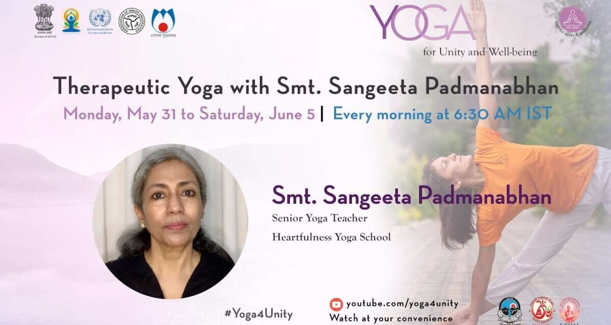 125-Yoga For Weight Loss Class1 By Smt. Sangeeta Padmanabhan Yoga For Unity&Well-being  Heartfulness