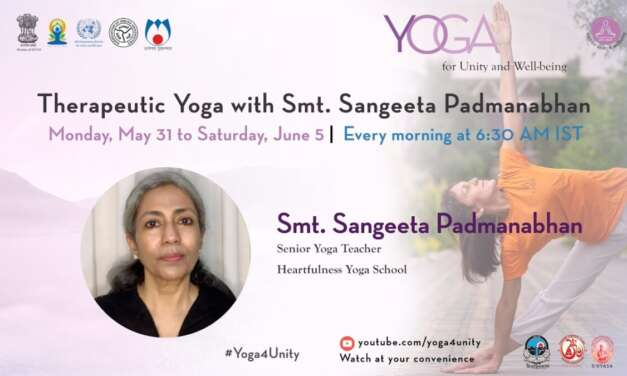 125-Yoga For Weight Loss Class1 By Smt. Sangeeta Padmanabhan|Yoga For Unity&Well-being| Heartfulness