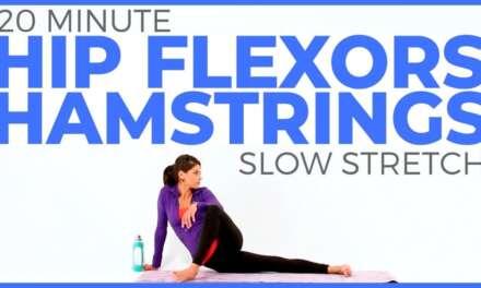 20 Minute Slow Stretch Yoga For Flexibility, Hip Flexors & Hamstrings | Sarah Beth Yoga