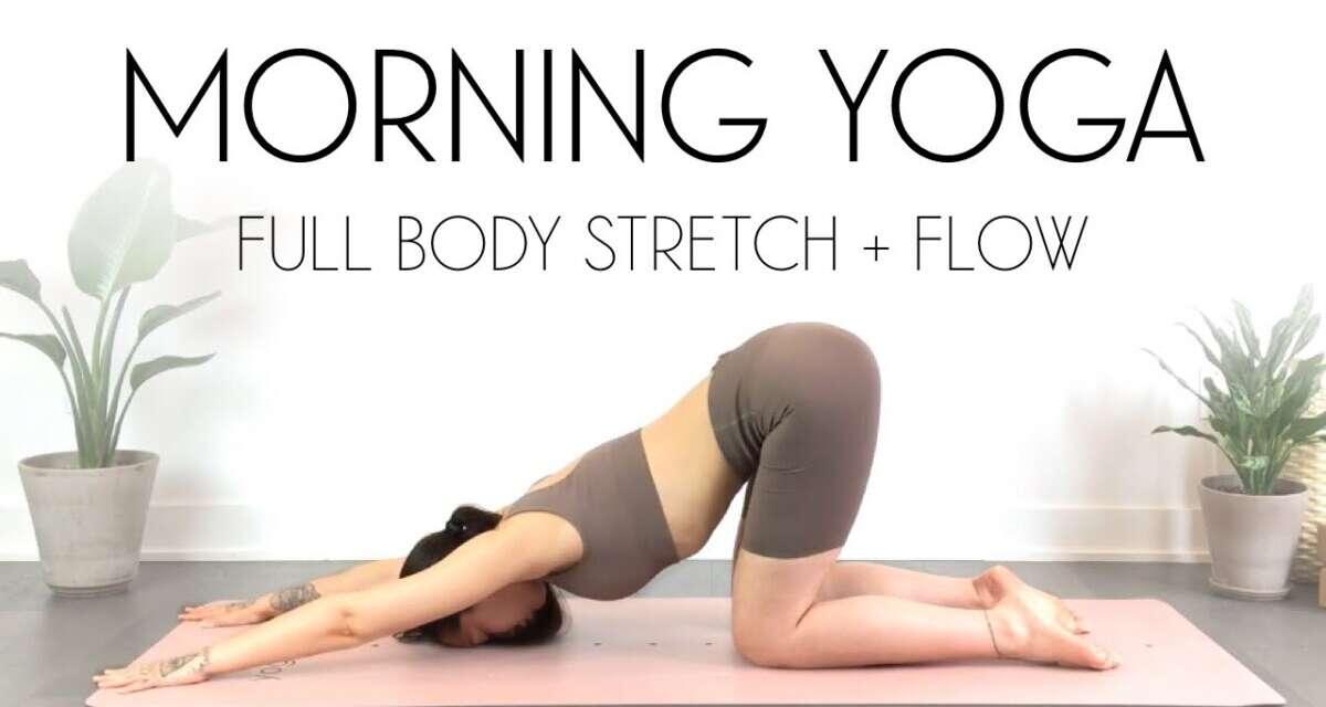 LIVE Yoga Class – 20 Min Morning Yoga Full Body Stretch & Flow
